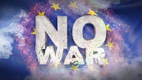 Geen oorlogsconcept Nationale vlag van Europa 3D Illustratie vector illustratie