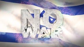 Geen oorlogsconcept Vlag van Israël Gegolfte hoogst gedetailleerde stoffentextuur 3D Illustratie stock illustratie