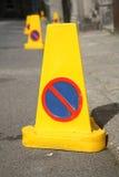 Geen parkerenkegels Royalty-vrije Stock Foto's
