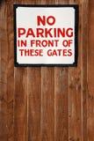 Geen parkerenteken stock fotografie
