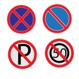 Geen parkerenteken plaatste op witte achtergrond EPS10 stock illustratie