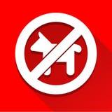 Geen pictogram van het hondteken groot voor om het even welk gebruik Vector eps10 Royalty-vrije Stock Afbeeldingen