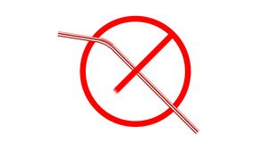 Geen plastic het drinken stro royalty-vrije illustratie