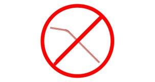 Geen plastic het drinken stro stock illustratie
