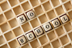 Geen school royalty-vrije stock foto
