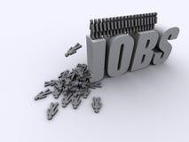 Geen schroothoop van de banenwerkloosheid Royalty-vrije Stock Afbeeldingen