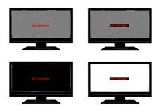Geen signaal op TV stock illustratie