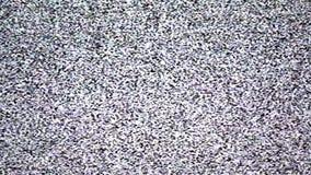 Geen signaal, TV-korrelachtergrond stock footage