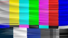 Geen Signaaltv Nakomelingsnetwerk Geen Signaal Vervormde glitch TV Vector illustratie royalty-vrije illustratie