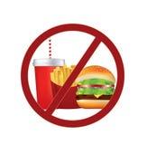 Geen snel voedselteken royalty-vrije illustratie