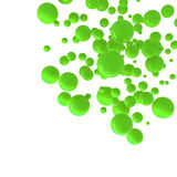 Geen spheres abstract background. Geen spheres over white abstract background Royalty Free Stock Photo