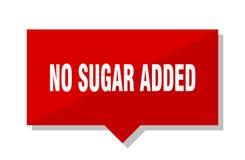 Geen suiker toegevoegd prijskaartje royalty-vrije illustratie
