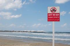 Geen Swim gevaar Stock Afbeelding