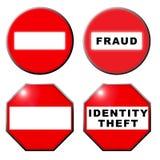Geen symbool van de de identiteitsdiefstal van de ingangsfraude vector illustratie