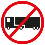 Geen symbool van het vrachtwagensteken Royalty-vrije Stock Afbeelding