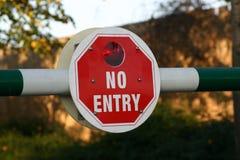 Geen Teken van de Ingang Royalty-vrije Stock Foto