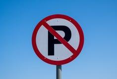 Geen Teken van de Straat van het Parkeren royalty-vrije stock foto's