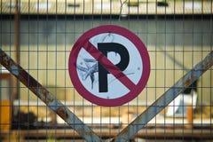 Geen Teken van het Parkeren Royalty-vrije Stock Foto's