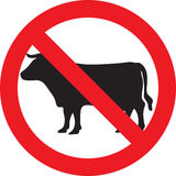 Geen Teken van het Vlees vector illustratie