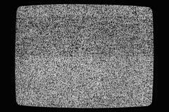 Geen textuur van signaaltv Effect van het televisie het korrelige lawaai als achtergrond Geen patroon van de signaal retro uitste stock afbeelding