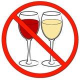 Geen toegestaan drinken royalty-vrije illustratie