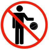 Geen toegestaan spelen stock illustratie