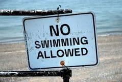 Geen Toegestaan Zwemmen Royalty-vrije Stock Afbeeldingen