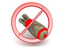Geen toegestane bommen Stock Fotografie