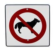 Geen toegestane honden Royalty-vrije Stock Afbeeldingen