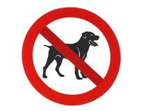 Geen toegestane honden Royalty-vrije Stock Foto's