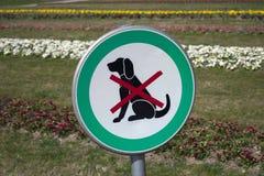 Geen toegestane honden, verboden honden stock foto
