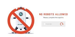 Geen toegestane robots royalty-vrije illustratie