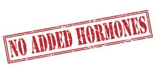 Geen toegevoegde hormonen rode zegel stock illustratie