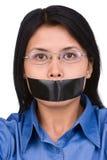 Geen toespraakvrijheid Stock Foto