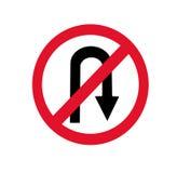 Geen u-Draai Teken royalty-vrije illustratie