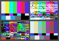 Geen van het de achtergrond testpatroon van signaaltv reeks vector illustratie