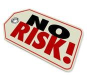 Geen van het de Kwaliteitsmerk van het Risicoprijskaartje Bovenkant op Vertrouwd Beste Product Guarant vector illustratie