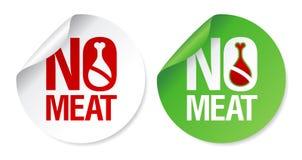 Geen vleesstickers. Stock Foto