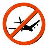 Geen vliegtuig Royalty-vrije Stock Foto's