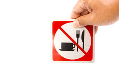Geen voedsel en drank Royalty-vrije Stock Afbeeldingen