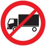 Geen vrachtwagenteken stock illustratie