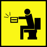 Geen Waarschuwingssein van het Toiletpapier vector illustratie