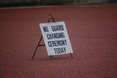 Geen wacht veranderende ceremonie vandaag Royalty-vrije Stock Foto's