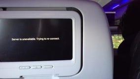 Geen werkende vertoning op vliegtuig stock videobeelden