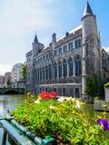 Geeraard恶魔城堡,跟特,比利时 免版税图库摄影