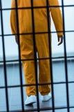 geerntetes Bild des Afroamerikanergefangenen hinten stockfotografie