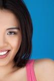Geerntetes Hauptportrait einer asiatischen Frau lizenzfreie stockbilder