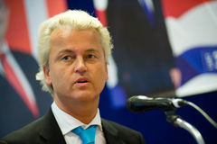 Geert Wilders campaigning Stock Photography