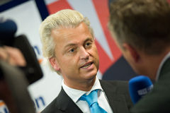 Geert Wilders campaigning Royalty Free Stock Photo