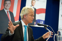 Geert Wilders campaigning Stock Photos